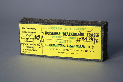 Joseph Beuys, Noiseless Blackboard Eraser, 1974