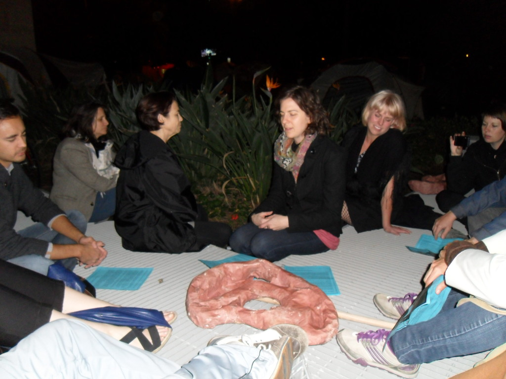 ARLA Ear Strengthening Performance, Occupy LA site, November 11, 2011.