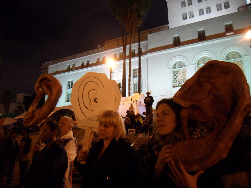 ARLA Listening Performance, Occupy LA site, 2011.