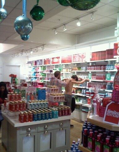 Rub in/Lube in at Macy's in downtown LA, December 2011